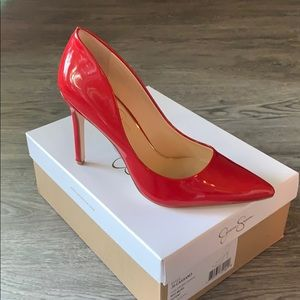 Jessica Simpson Red Muse Patent Shoes